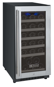 "Allavino Flexcount VSWR30-1SSRN 15"" Single Zone Wine Cooler Refrigerator - 30 Bottle Capacity - Hinge on Right"