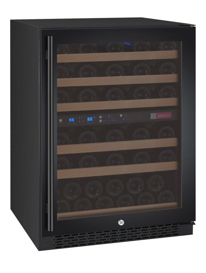 Allavino Flexcount VSWR56-2BWRN Two-Zone 56 Bottle Wine Refrigerator - Black Door with Right Hinge