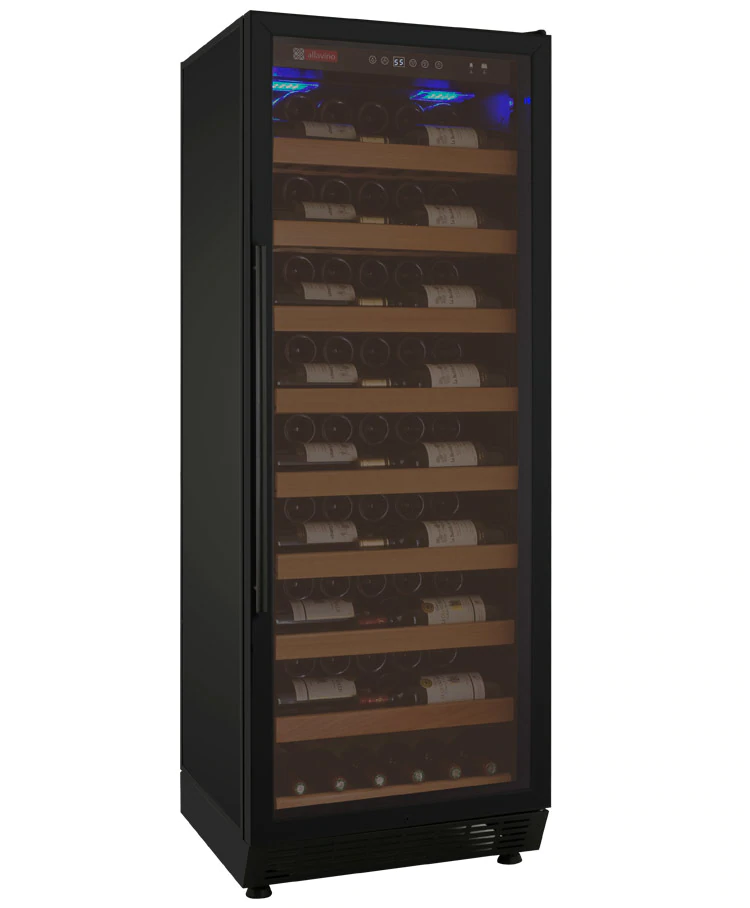 Allavino Vite YHWR115-1BRN Wine Cooler Refrigerator - 115 Bottle Capacity - Black Door on Right Hinge