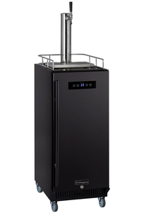 "15"" WIDE COMMERCIAL HOME BREW KEGERATOR WITH BLACK DOOR"
