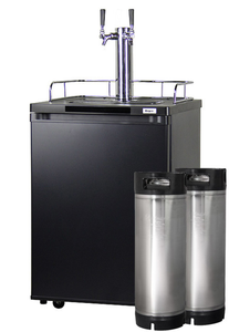 HBK209B-2K HOME BREW KEGERATOR - BLACK CABINET AND DOOR