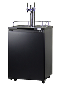 HBK209B-3 HOME BREW KEGERATOR - BLACK CABINET AND DOOR