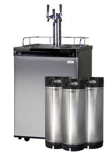 HBK209S-3K HOME BREW KEGERATOR - BLACK CABINET AND STAINLESS STEEL DOOR