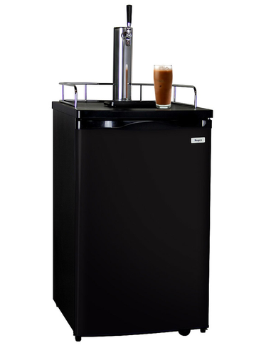 KEGCO ICK19B-1 JAVARATOR COLD-BREW COFFEE DISPENSER WITH BLACK CABINET AND DOOR