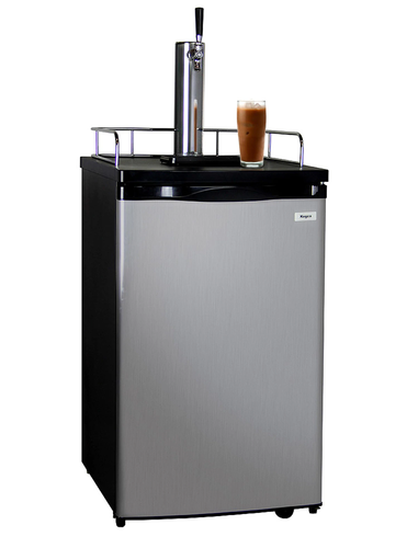 KEGCO ICK19S-1 JAVARATOR COLD-BREW COFFEE DISPENSER WITH BLACK CABINET AND STAINLESS STEEL DOOR - KEGCO.COM & MARKETPLACE