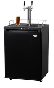 KEGCO ICK30B-2 DOUBLE FAUCET DIGITAL JAVARATOR COLD-BREW COFFEE DISPENSER - BLACK