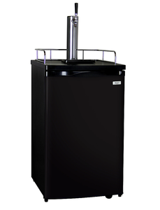 SINGLE FAUCET COMPACT KEGERATOR WITH BLACK DOOR