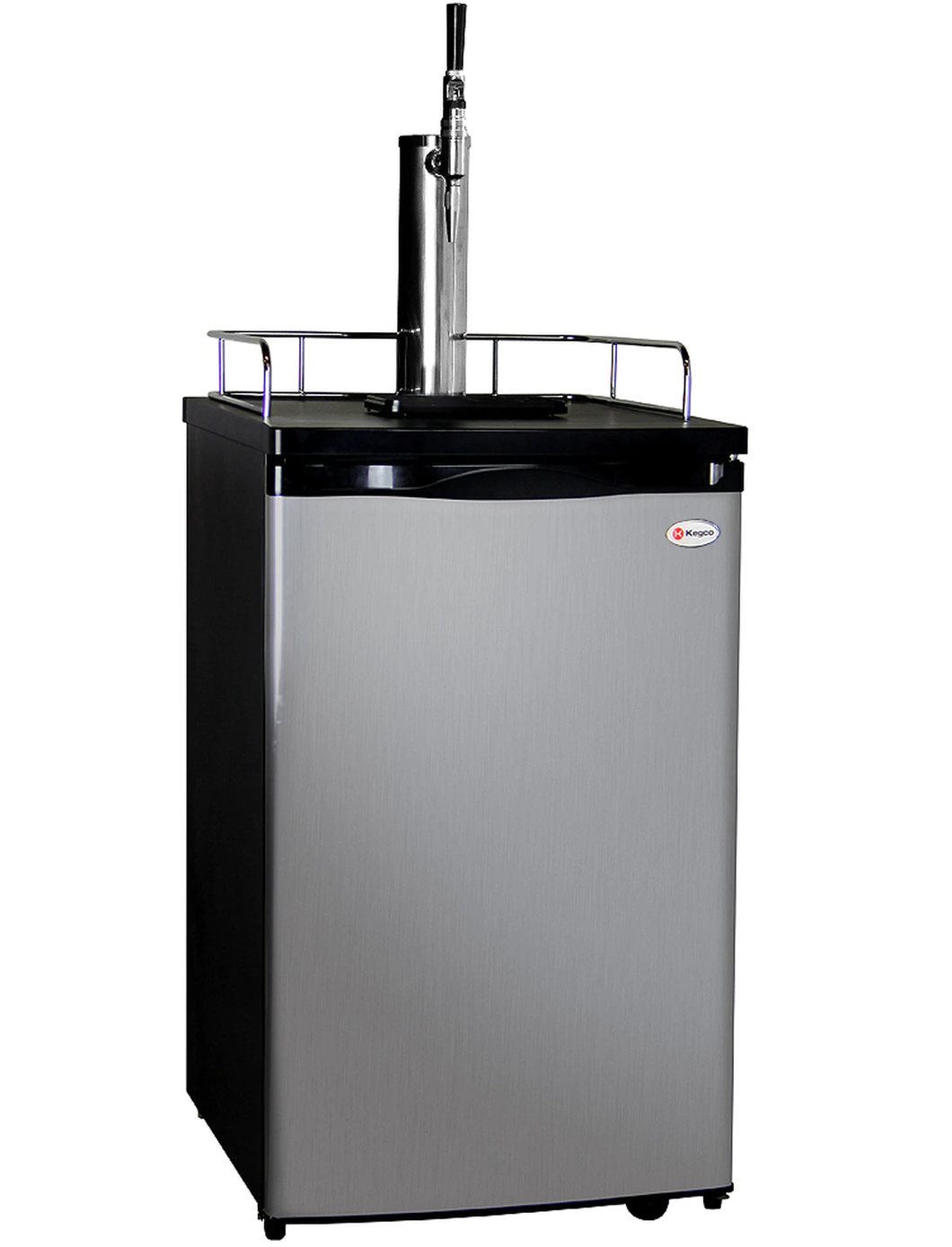 GUINNESS™ DISPENSING KEGERATOR WITH BLACK CABINET AND STAINLESS STEEL DOOR