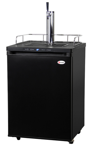 K309B-1 FULL-SIZE DIGITAL BEER KEG COOLER - SINGLE FAUCET - D SYSTEM - BLACK