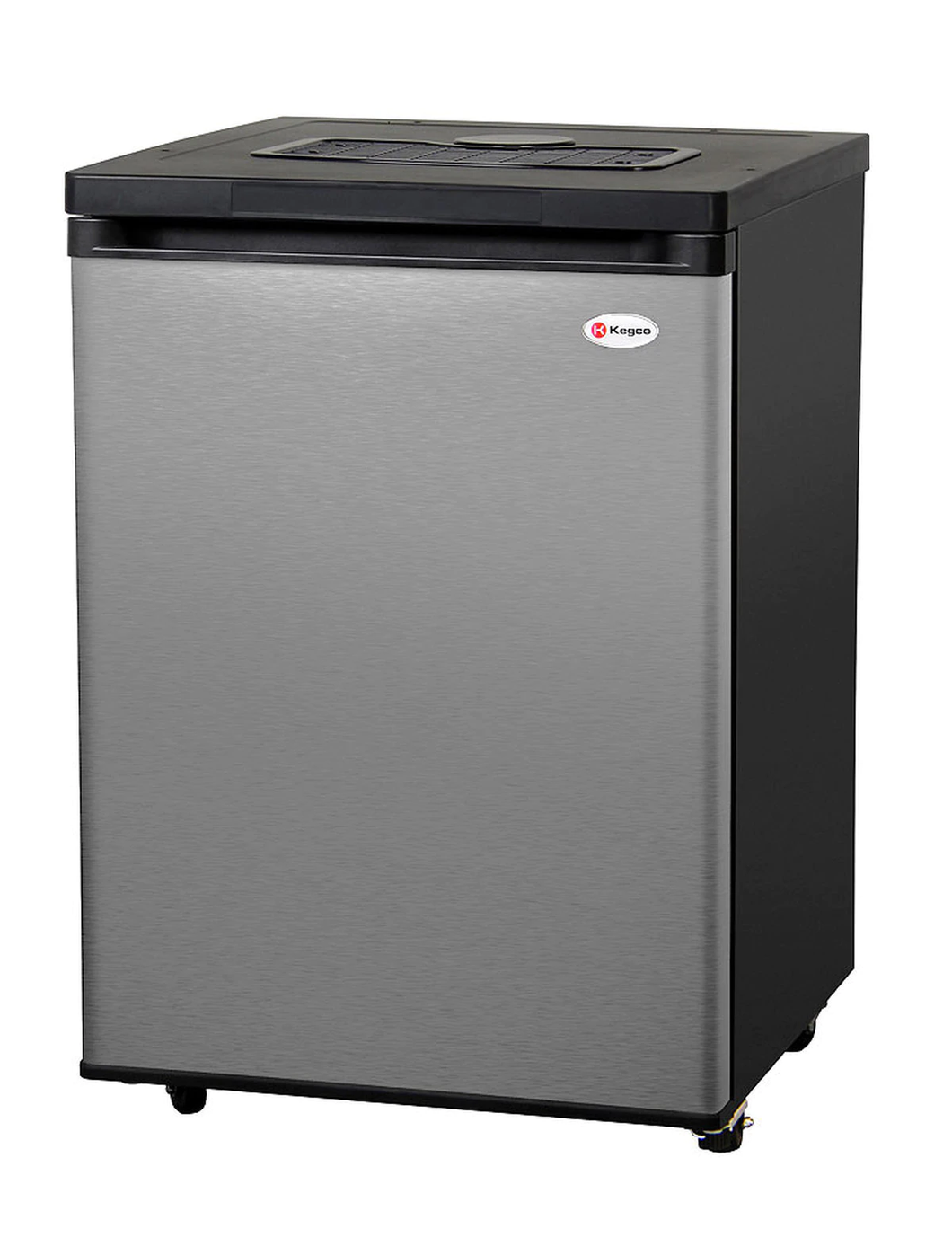 FULL SIZE KEGERATOR - BLACK CABINET WITH STAINLESS STEEL DOOR - NO KIT, CABINET ONLY