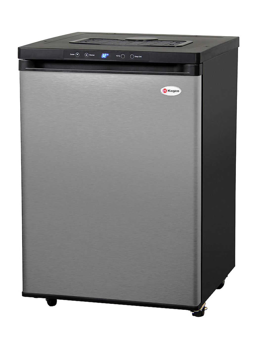 FULL SIZE DIGITAL KEGERATOR - BLACK CABINET WITH STAINLESS STEEL DOOR - NO KIT, CABINET ONLY