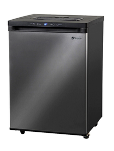 FULL SIZE DIGITAL KEGERATOR - BLACK CABINET WITH BLACK STAINLESS STEEL DOOR - NO KIT, CABINET ONLY