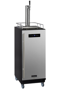 "15"" WIDE COMMERCIAL KEGERATOR WITH STAINLESS STEEL DOOR"