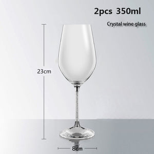 Luxury wine glass Lead free diamond crystal glass goblet beer glass champagne glasses fashion wine rack romantic wedding gifts