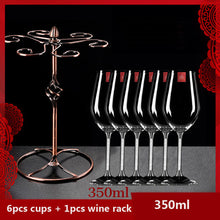 Load image into Gallery viewer, Luxury wine glass Lead free diamond crystal glass goblet beer glass champagne glasses fashion wine rack romantic wedding gifts