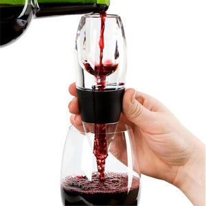 Wine Aerator Decanter Filter + Red White Wine Flavour Enhancer and Stand UK FAST