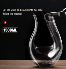 Load image into Gallery viewer, YKPuii 1500ML Big Decanter Handmade Crystal Red Wine Brandy Champagne Glasses Decanter Bottle Jug Pourer Aerator For Family Bar