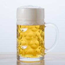 Load image into Gallery viewer, Oktoberfest Glass Beer Mug (33.75 oz)