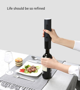 Original Hot Xiaomi Mijia Huohou Automatic Red Wine Bottle Opener Stopper Decanter Electric Corkscrew Foil Cutter Cork Out Tool