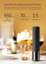 Load image into Gallery viewer, Original Hot Xiaomi Mijia Huohou Automatic Red Wine Bottle Opener Stopper Decanter Electric Corkscrew Foil Cutter Cork Out Tool