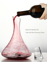 Load image into Gallery viewer, Elegant Wine Decanter with Crystal Stopper (1.5 liters)