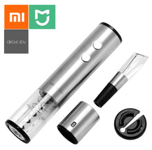 Load image into Gallery viewer, Xiaomi Mijia Circle Joy Electric Bottle Opener Stainless Steel Mini Wine Stopper Wine Decanter Aerator Smart Wine set gift