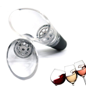GVCD Wine Stoppers Set, Wine Saver Vacuum Pump Preserver - With 4 Bottle Stoppers, 1 Wine Aerator & 1 Bottle Opener