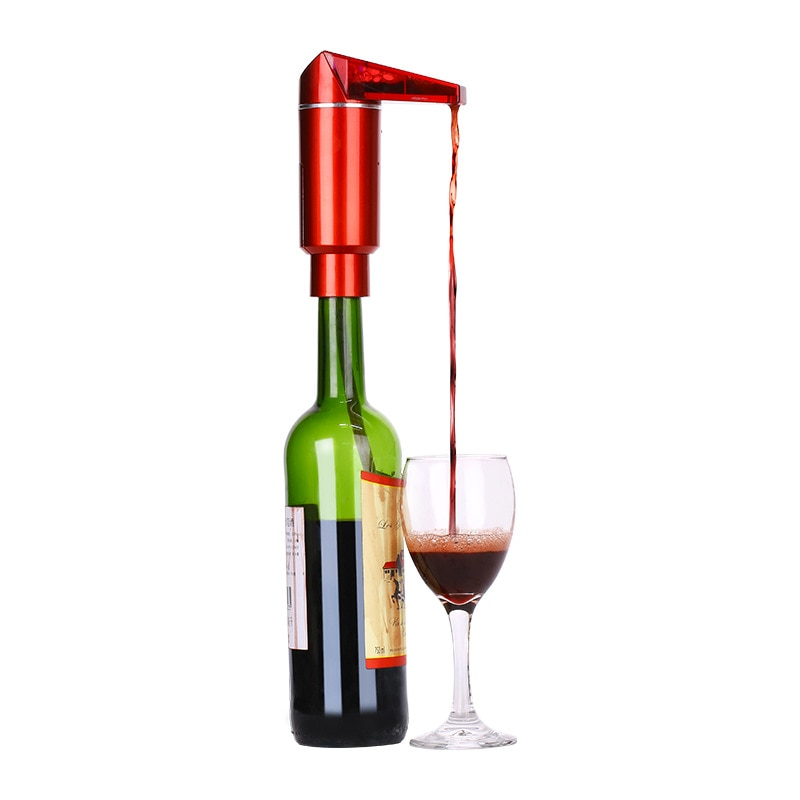 Smart Oxygen Wine Decanter Pump Aerator Barrel Shaped Electric Wine Decanter with LCD Display Wine Pourer Kitchen Bar Tools
