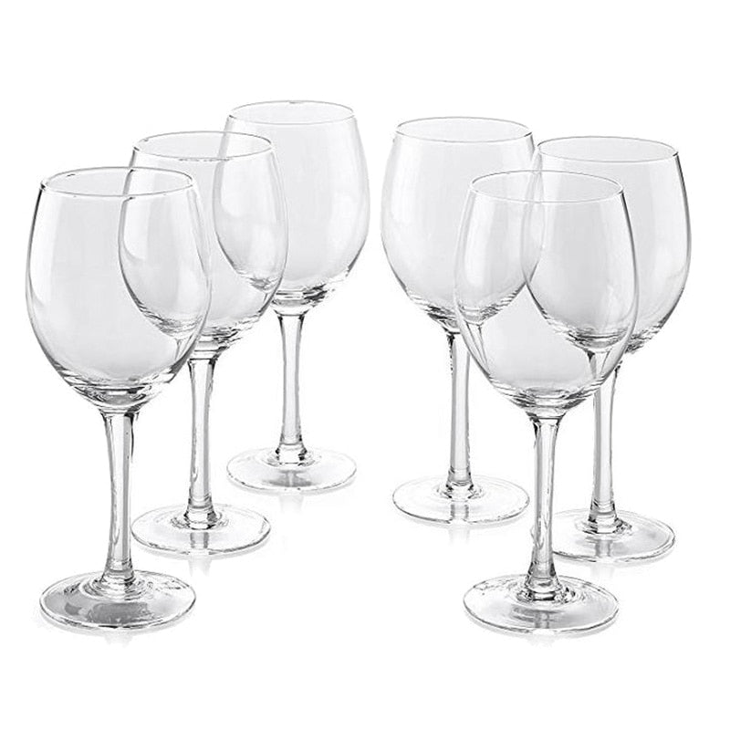 Classic Wine Glasses with Stem (set of 6)