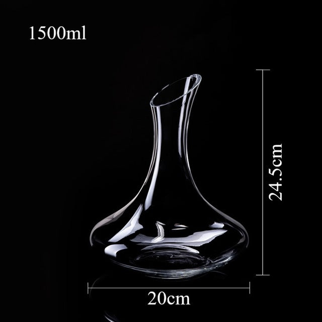 Wine Decanter Crystal Whiskey Glass 100% Hand Blown Lead-free Whisky Decanter Wine Carafe for Vodka 1500ml