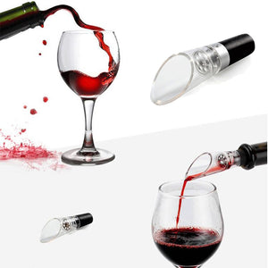 Wine Aerator Superior Quality Decanter Red Wine Pourer Pour Bottle Cork Decanter Pourer Portable Bar Tool Kitchen Accessories