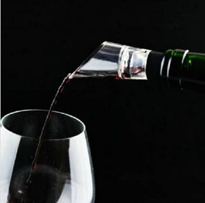 Quick Decanter White Red Wine Bottle Drop Stop Top Stopper Dumping Funnel Aerator Pourer S