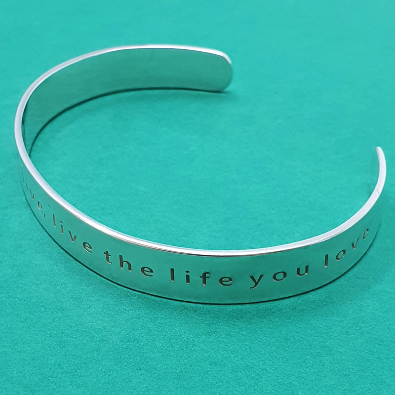 Memento silver personalised signature wide message cuff jewellery