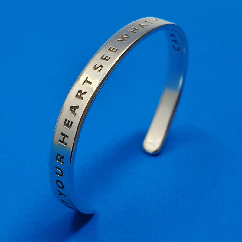 Memento silver personalised signature message cuff jewellery