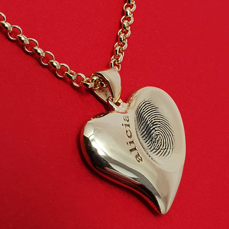 Child fingerprint necklace - Alicia