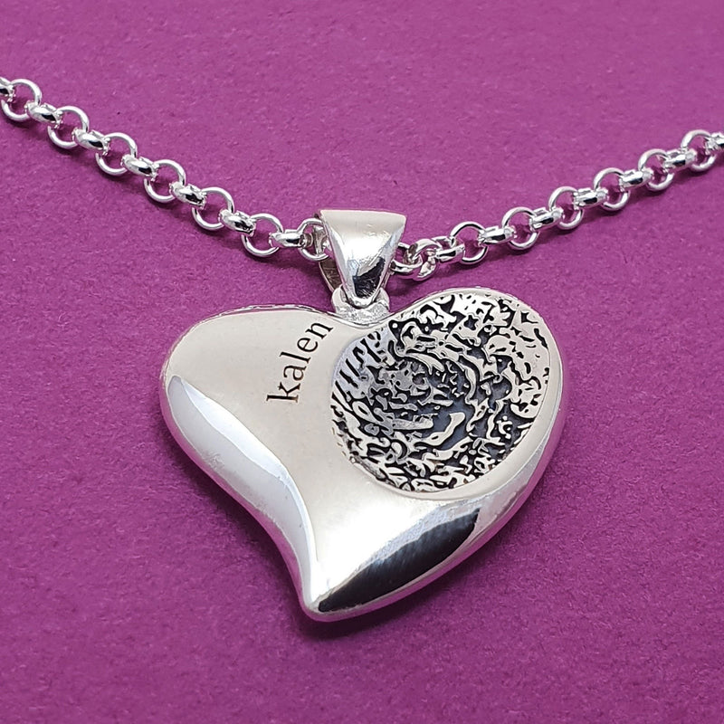 Child fingerprint necklace - Kalen