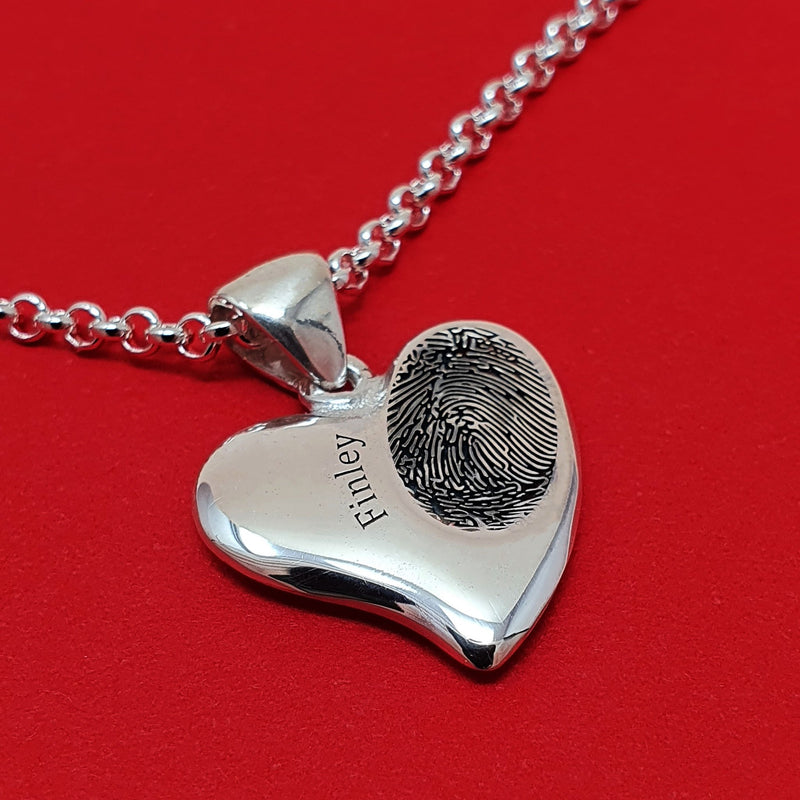 Child fingerprint necklace