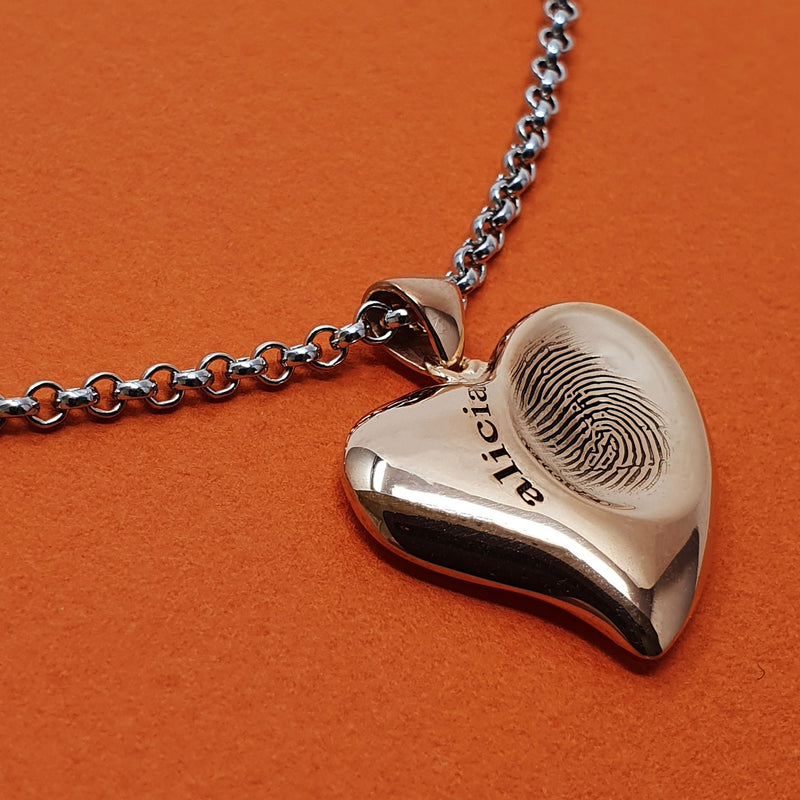 Child fingerprint necklace - Alicia 2