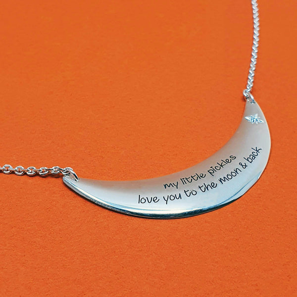Signature Moonstar Diamond Necklace - Special Message