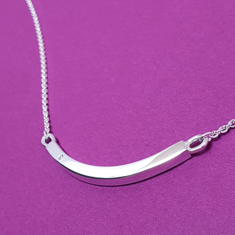 Signature Ingot Diamond Necklace - Special Message