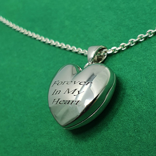 Memento silver personalised heart photo locket necklace jewellery