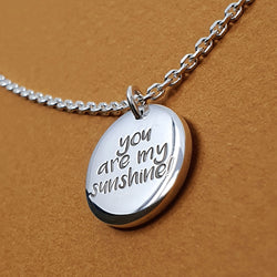 Signature Chunky Button Necklace (Small) - Inked Special Message