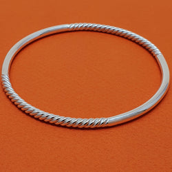 Round Charm Bangle - Double Twisted Insert
