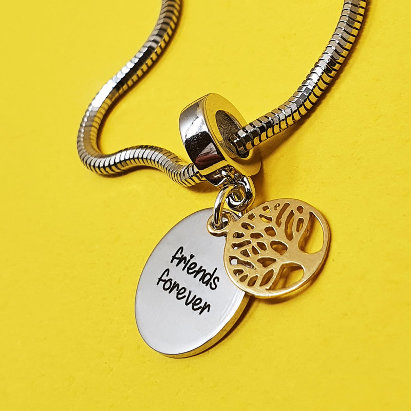 Memento silver 9ct gold plated personalised special message tree of life charm jewellery
