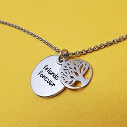 Memento Silver Personalised Special Message Tree f Life Necklace Jewellery