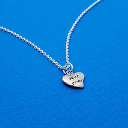 Memento silver personalised heart necklace jewellery