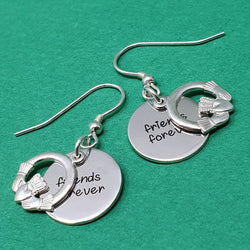 Memento Silver Personalised Special Message Claddagh Earring Jewellery