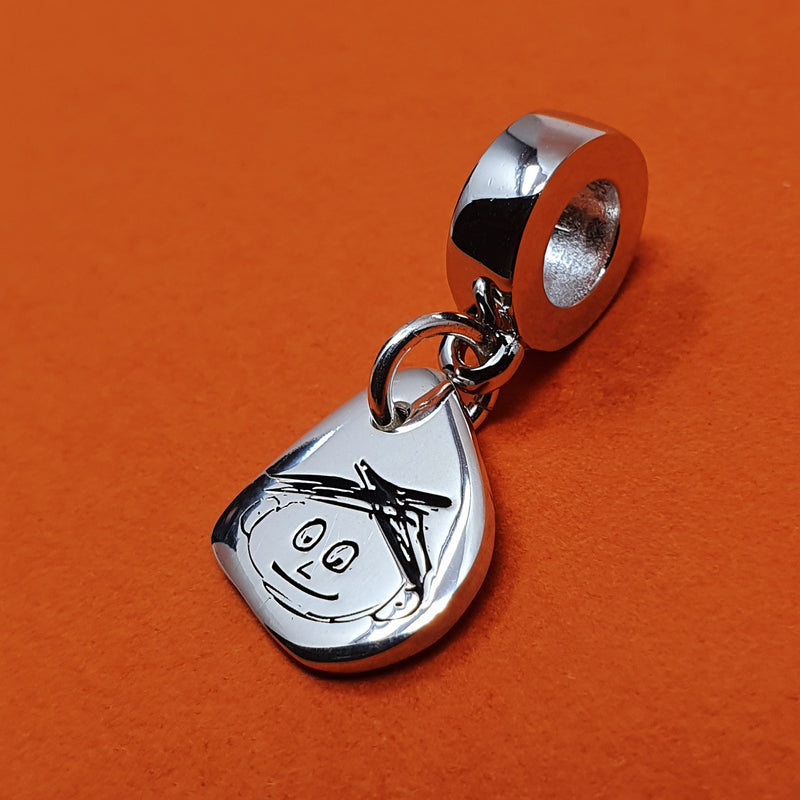Memento Silver Personalised Hand Drawing Charm Jewellery