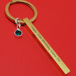Ingot Keyring (Yellow Gold Plated)