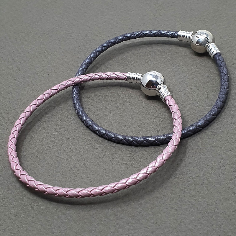 Memento leather & silver single wrap braided bracelet jewellery